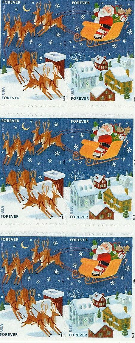 USPS New Santa and Sleigh Forever SelfAdhesive Stamp