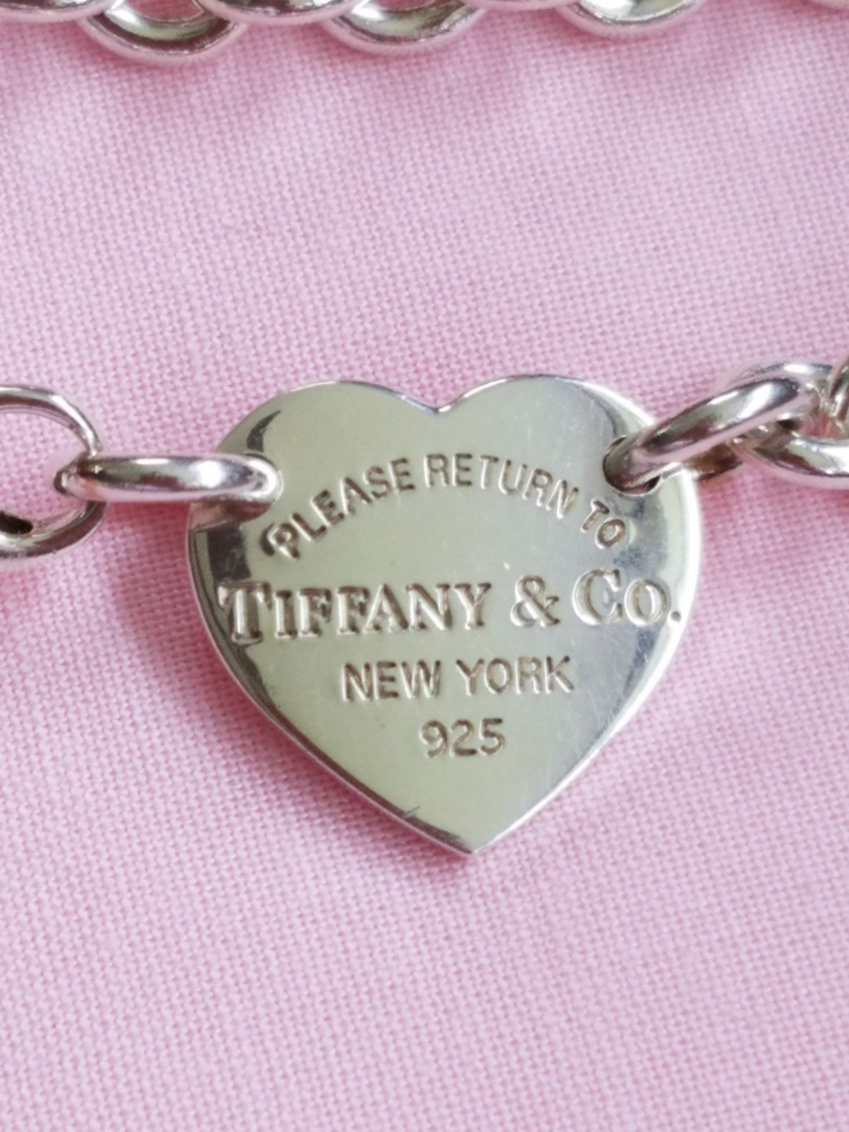 2808f6866 Tiffany & Co Return To Tiffany Sterling Silver Heart Tag Choker Necklace