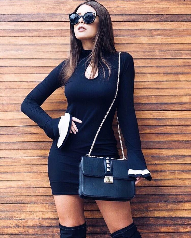 """Mariella Sarto no Instagram: """"Bom dia amores !!! Com esse Dress lindo @alee_atacado   bolsa @bolsaslajut"""""""