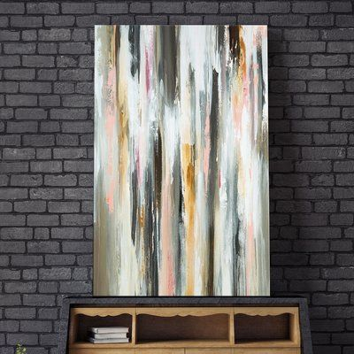 """Ivy Bronx 'Colored Ripple' Painting Print on Wrapped Canvas Size: 30"""" H x 18"""" W"""