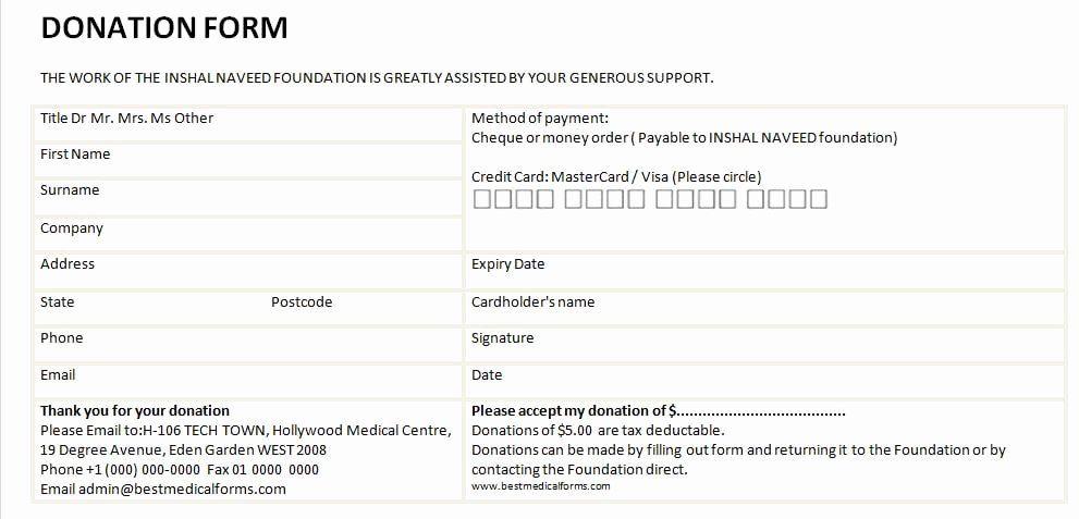 Donation Form Template Pdf Beautiful 6 Free Donation Form Templates Excel Pdf Formats Donation Form Donation Letter Donation Request Form