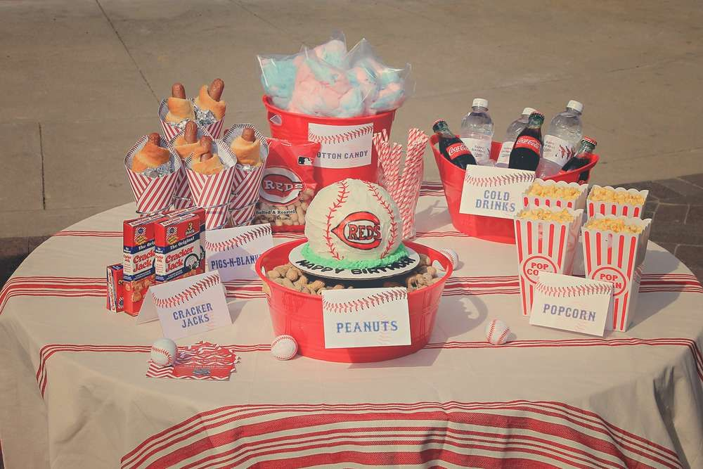 Cincinnati Reds Baseball Birthday Party Ideas