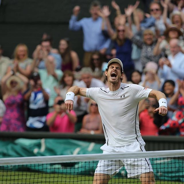 """The wins feel extra special because of the tough moments"" - @andymurray #Wimbledon  Photo: @garyhershorn"