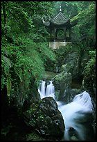 Waterfall beneath Qingyin pavillon. Emei Shan, Sichuan, China