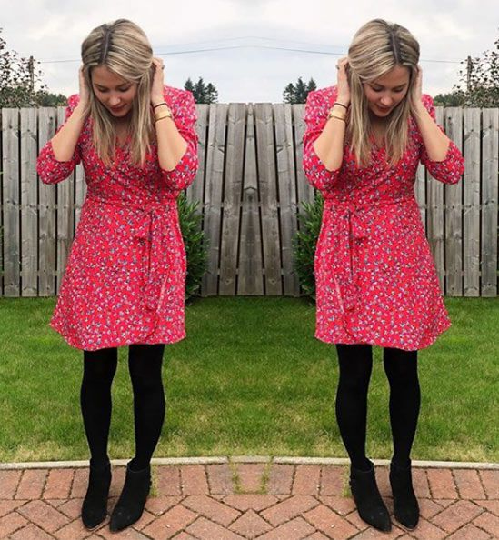 f3344787073 Mrs Meldrum looking gorgeous in the SilkFred 'Zeina Red Ditzy' ....blogger,  mummy, breastfeeding, friendly, casual, winter, wrap dress, inspo, fashion,  ...