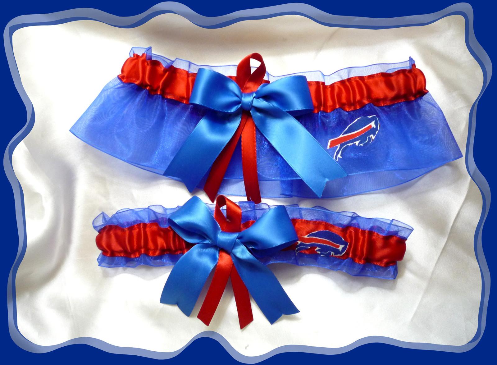 24.99$  Watch now - http://vidqw.justgood.pw/vig/item.php?t=v8ffv4i4579 - Buffalo Bills Blue Organza Ribbon Garter Set