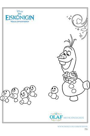 Ausmalbild Olaf Disneybilder Ausmalen Ausmalbilder Und Olaf