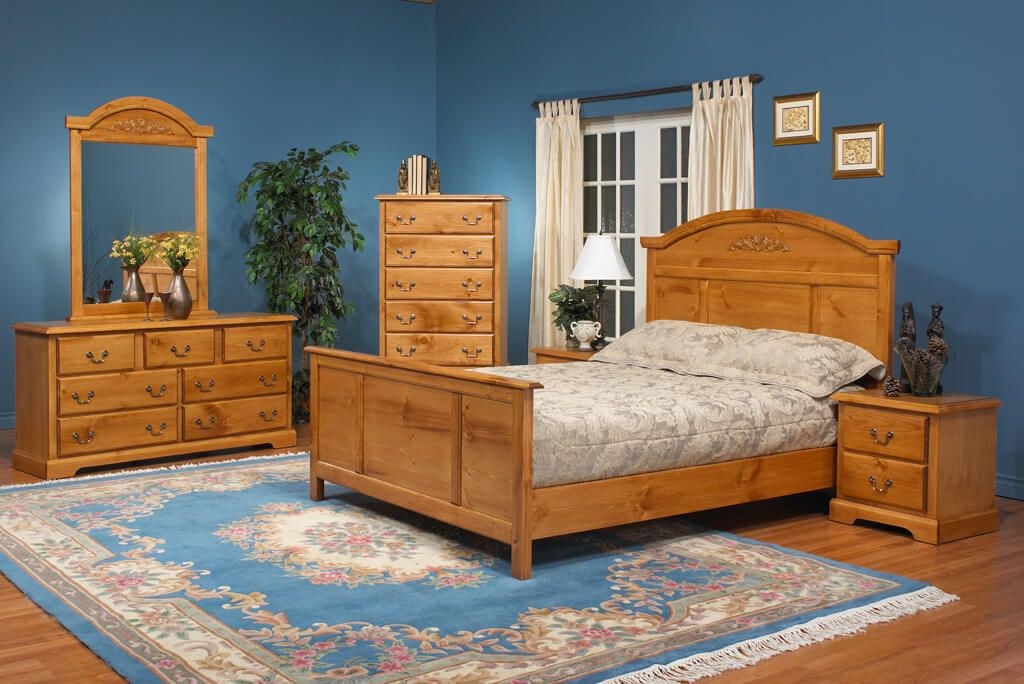 Wood Bedrooms An Example Of 1990s Interior Design Nonagon Style Pine Bedroom Furniture Interior Design Bedroom Furniture