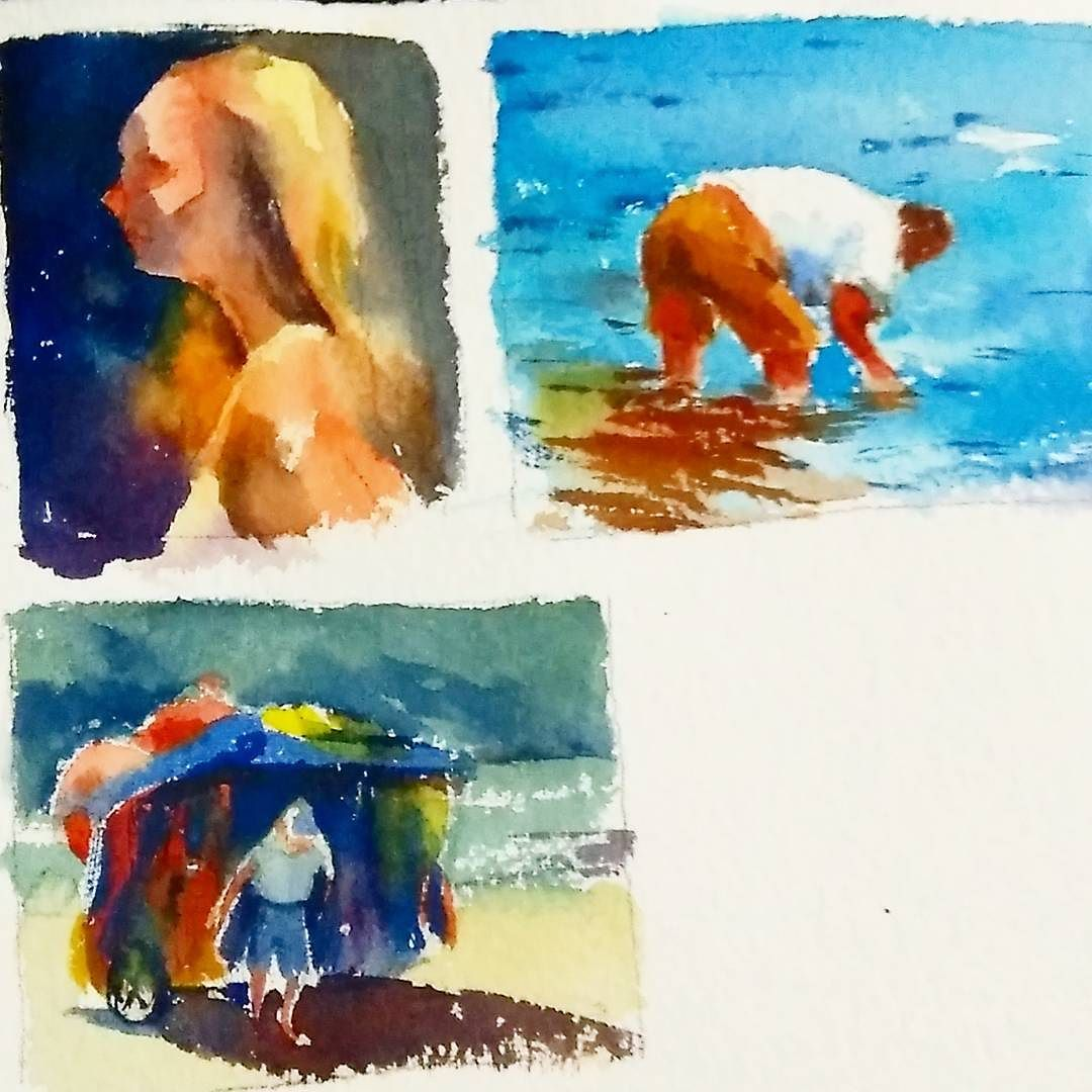 More Mini Studies Arches Rough Paper Watercolor Painting Art