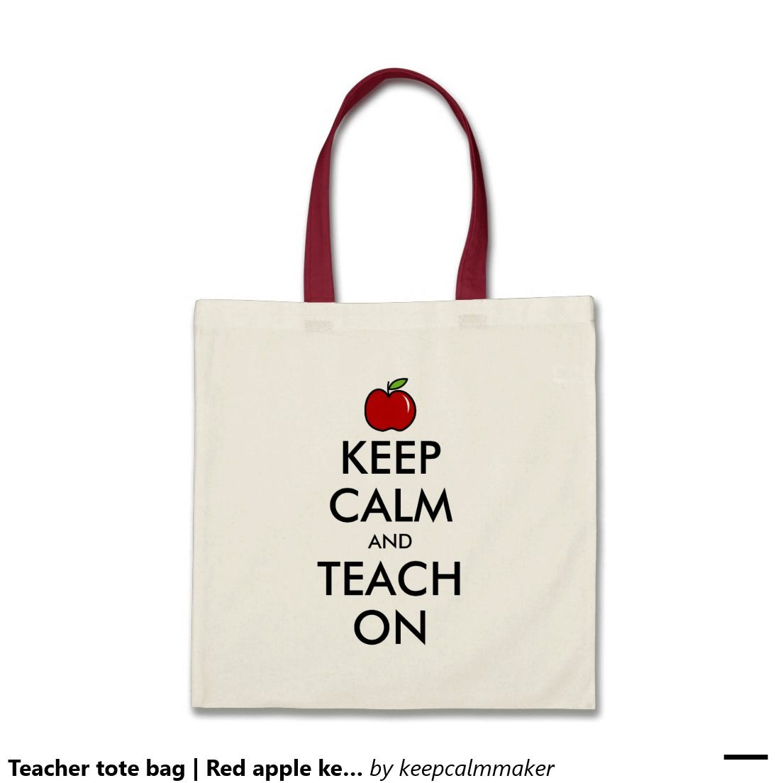 Bags for school teachers - Red Apple Teacher Tote Bag With Funny Quote Keep Calm And Teach On