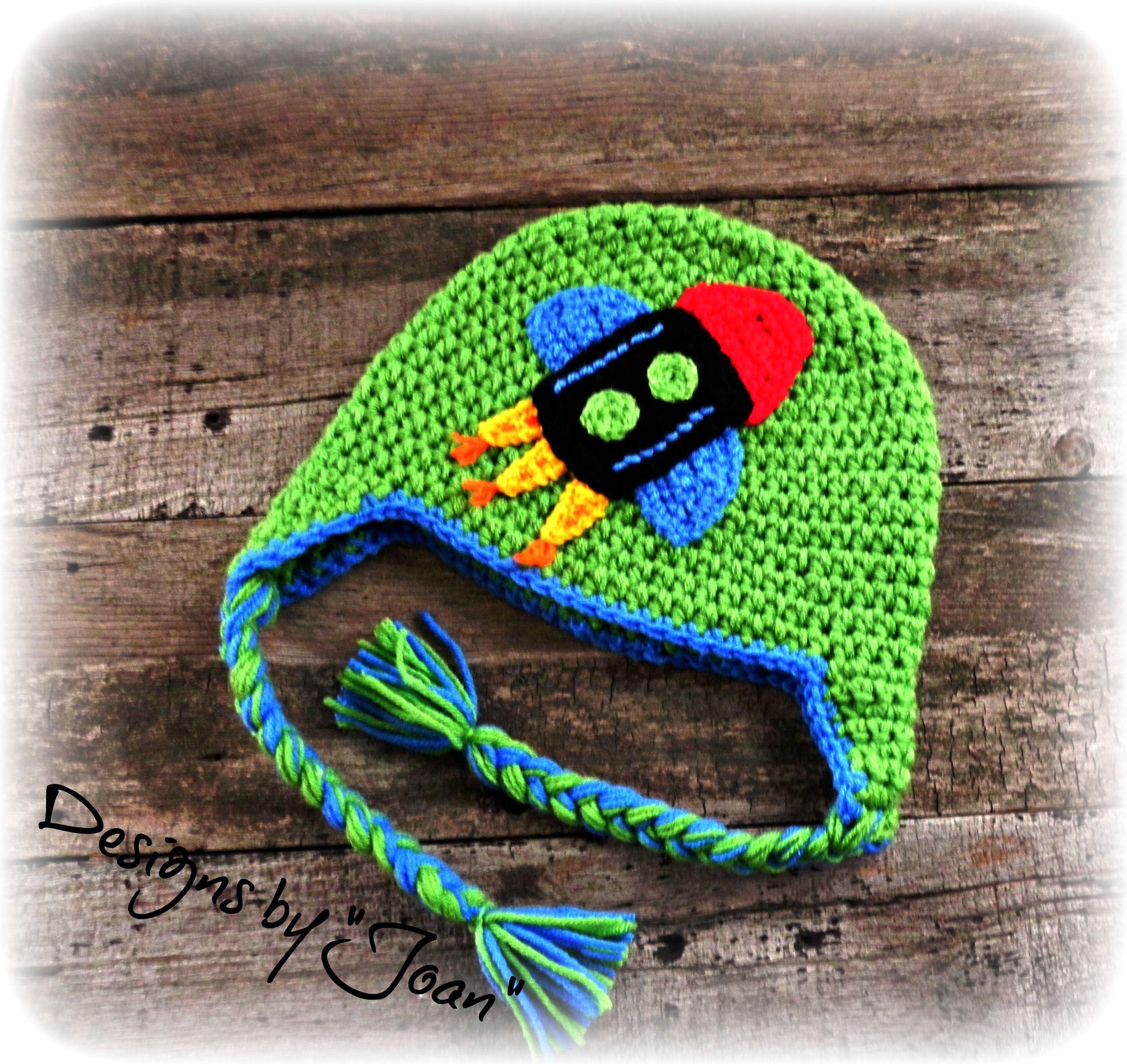 Crocheted rocket hat ideas pinterest crochet crochet car crocheted rocket hat bankloansurffo Choice Image