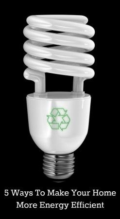 5 Ways To Make Your Home More Energy Efficient Energy Efficiency Save Energy Energy Saving Light Bulbs
