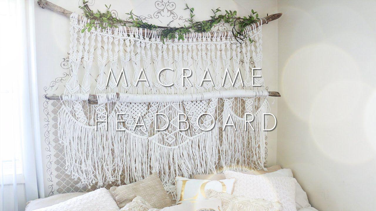 How To Diy Macrame Headboard Youtube Macrame Headboard Macrame Wall Hanging Diy Macrame Diy