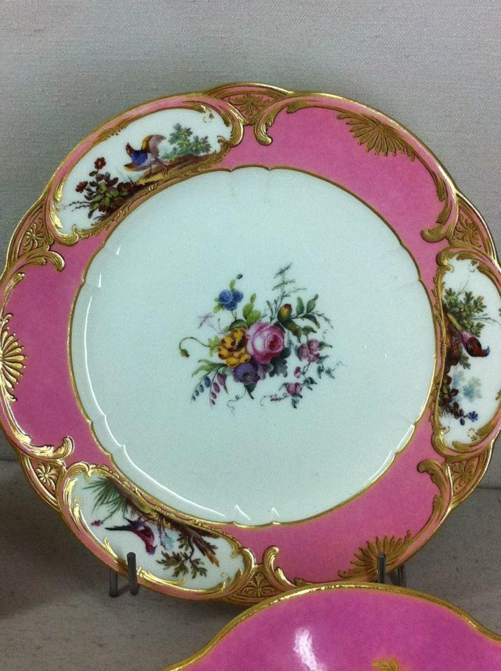 S 232 Vres Porcelain Plates In Rose Pompadour Color Kitchen