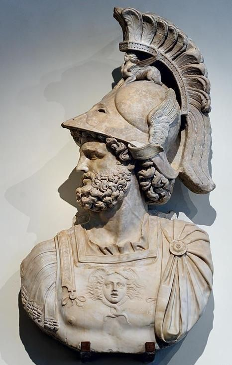This Head Was Chiselled Out Of A Relief And Is Inspired By The Image Of Mars Ultor In The Temple Of Mars I The Forum Of Roman Sculpture Roman Statue