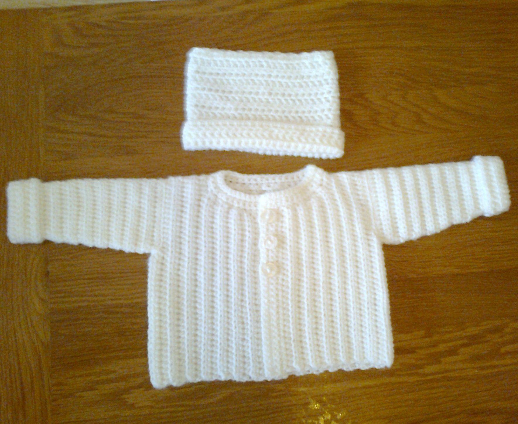 Newborn Layette Free Crochet Pattern from Red Heart - Jacket Tried ...