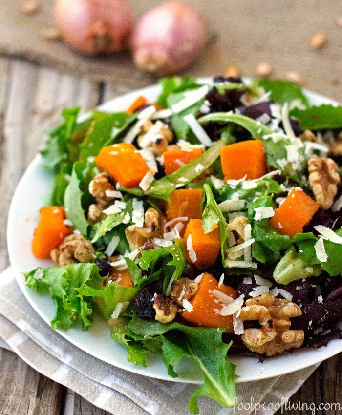 Ina Garten Green Salad: Roasted Butternut Squash Salad With Warm Cider Vinaigrette