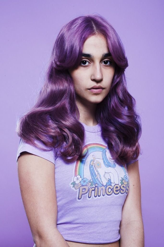 So you've dyed your hair! Maybe you went purple.