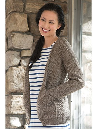 949baad9388f Millington Cardigan Knit Pattern from Annie s Craft Store. Order ...