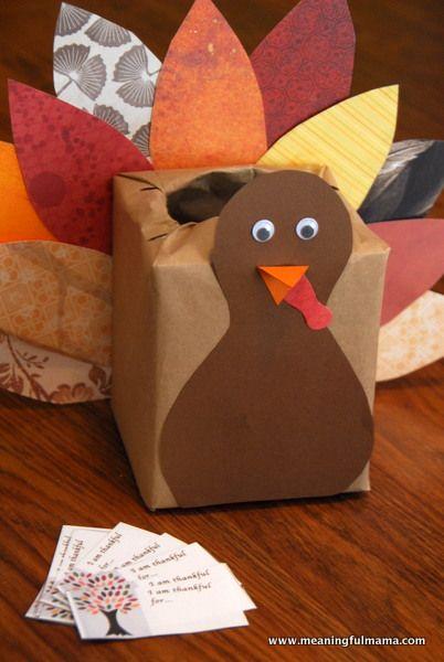 Thanksgiving Kleenex Box Turkey Kids Craft Thanksgiving