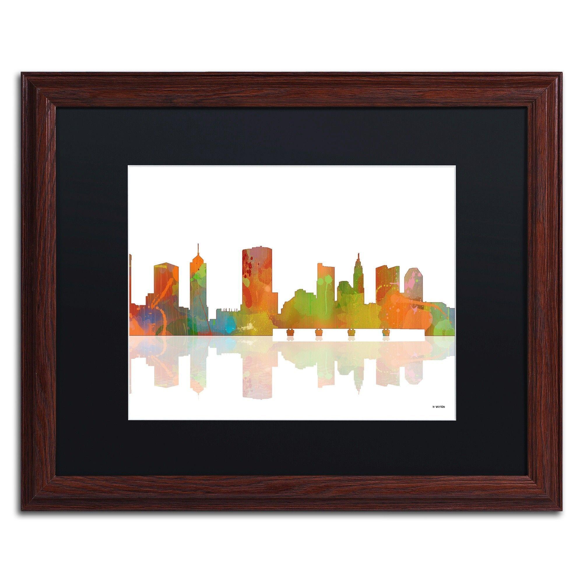 Columbus Ohio Skyline Ii Framed Graphic Art On Canvas Products