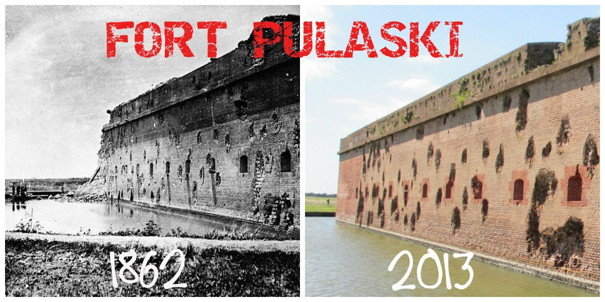 Fort Pulaski Then And Now With Images Civil War