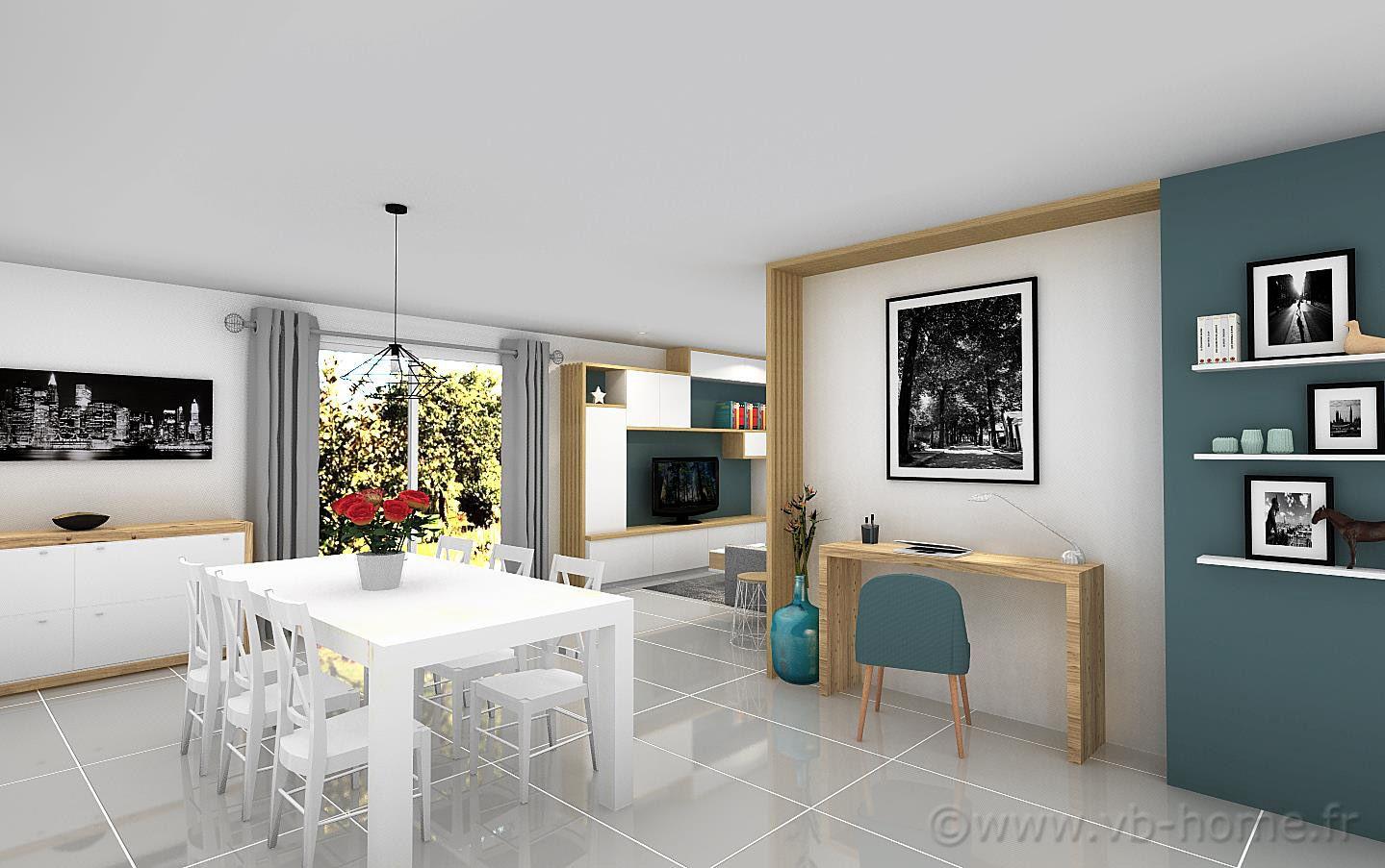 Aménagement d\'une pièce de vie de 40 m² | VB HOME | Pinterest
