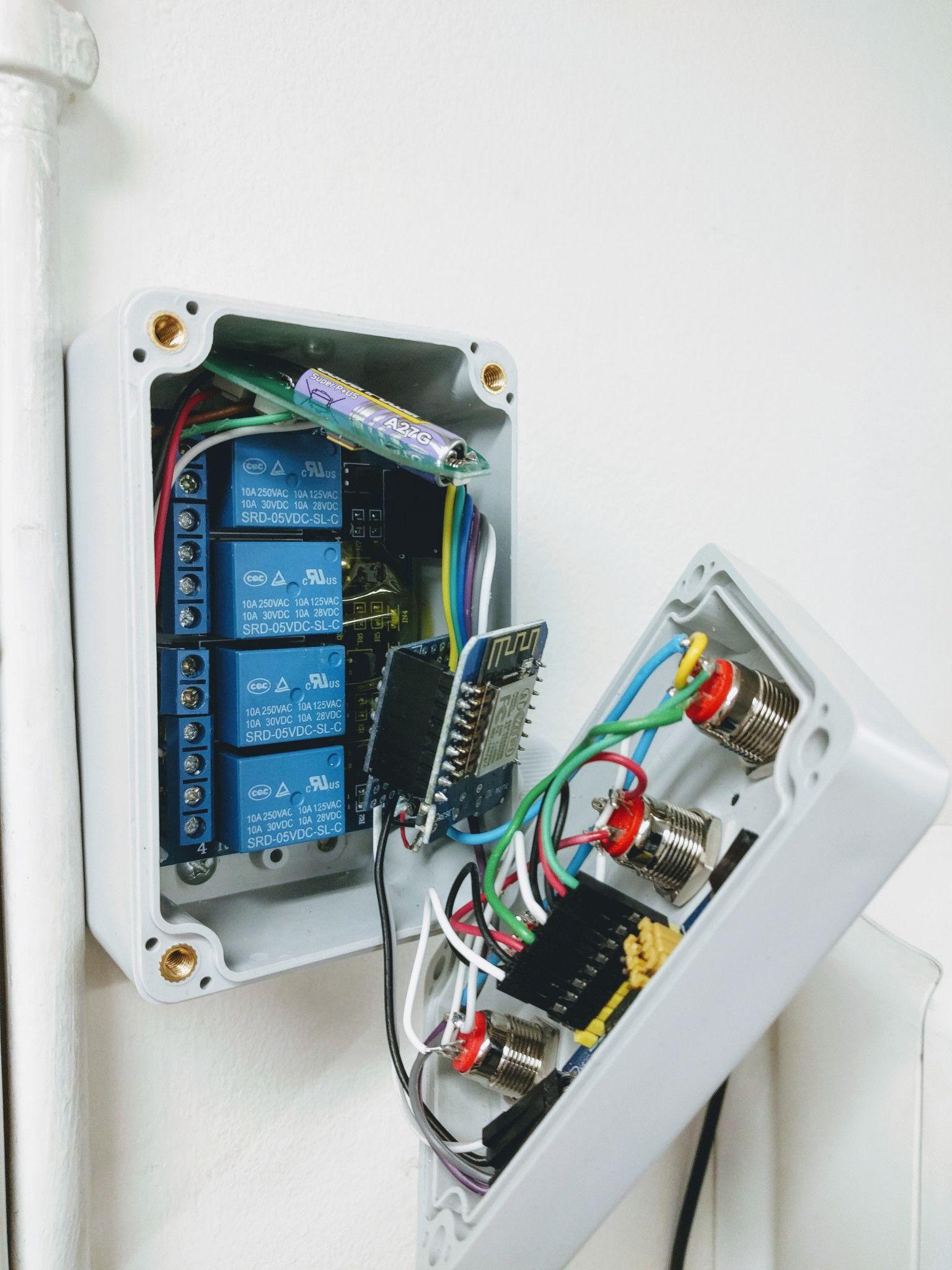 ESP Easy on ESP8266 controlling Hörmann Garage Door