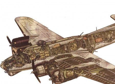 Boeing Flying Fortress Cutaway