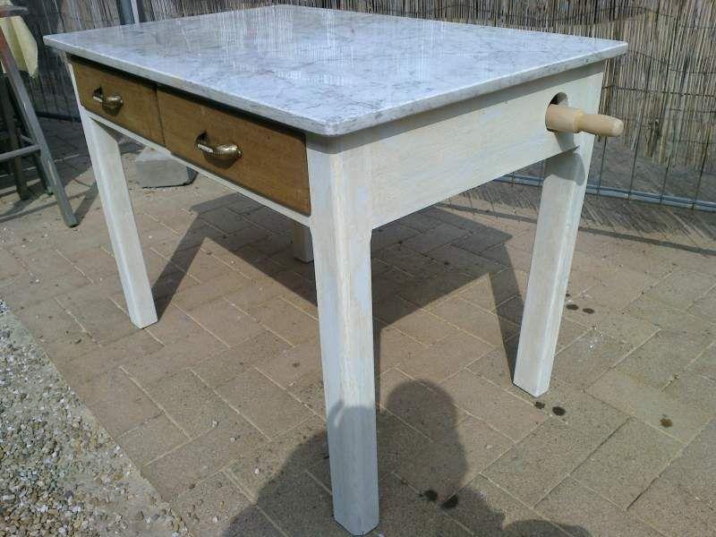 Due tavoli vintage anni 50 con marmo per pasta 4  Francesca ...