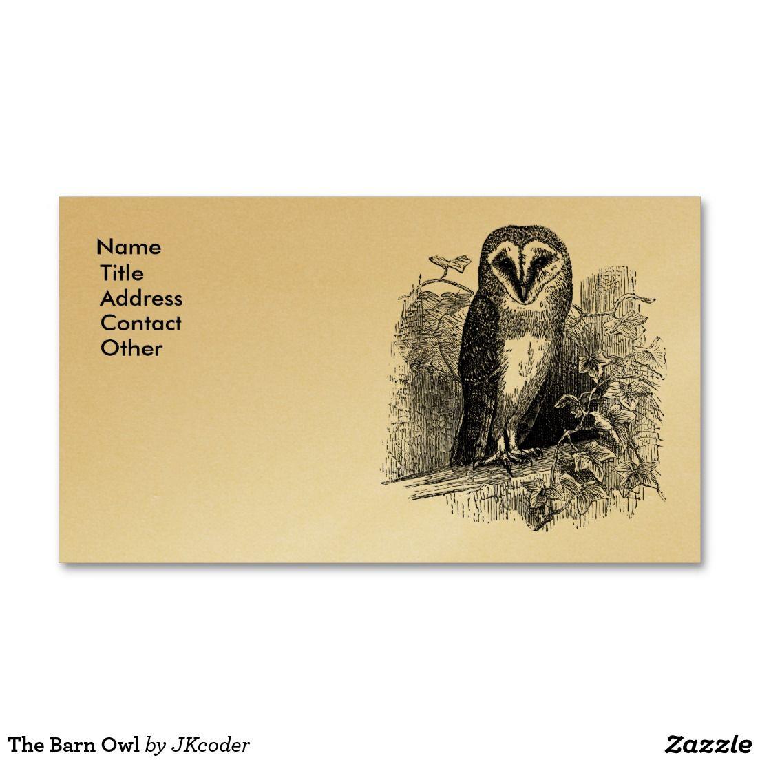 The barn owl business card business cards owl and barn the barn owl business card colourmoves
