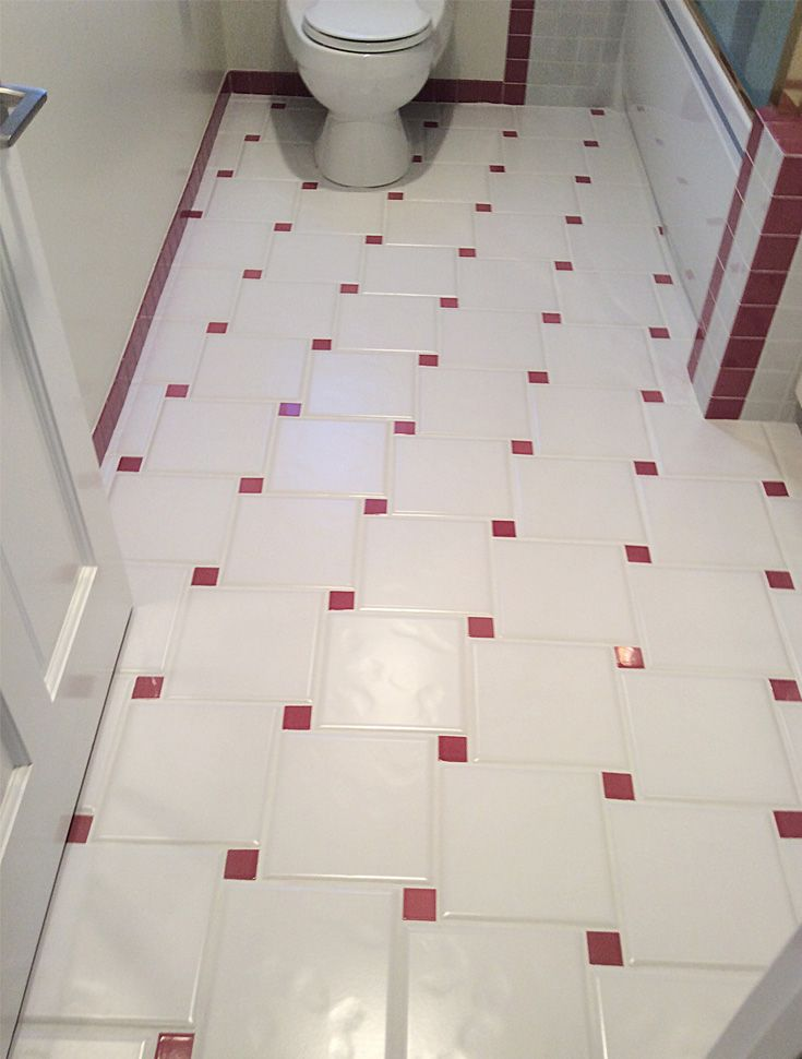 Vintage Tile Bathroom Floor Cleaned And Sealed By Alex