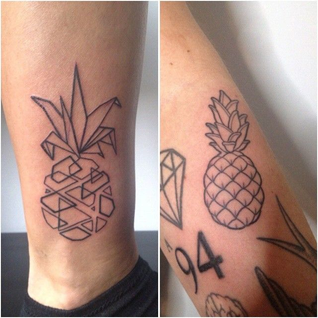 Dig The Geometric Pineapple Tattoo Aaa