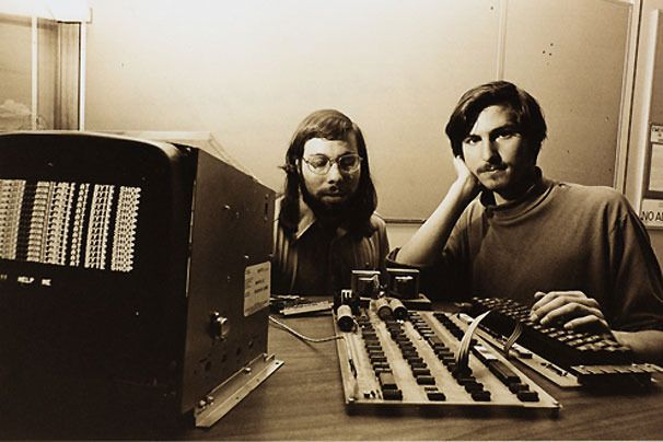 Steve Jobs and Steve Wozniak introduce the first personal computer  Apple 2, April 1976    Certainly a world changer....