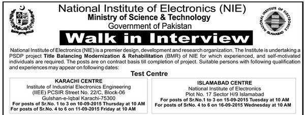 Jobs in National Institute of Electronics #Islamabad for Team Leader - petroleum engineer job description