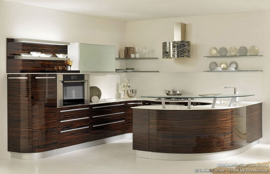 Kitchen idea of the day a modern luxury kitchen with for Modern day kitchen designs