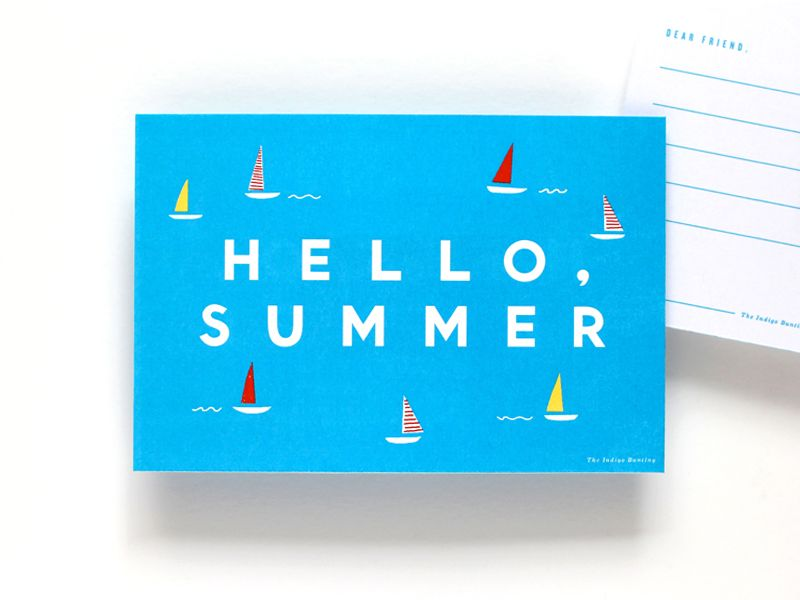 cute summer postcard by erin jang #splendidsummer