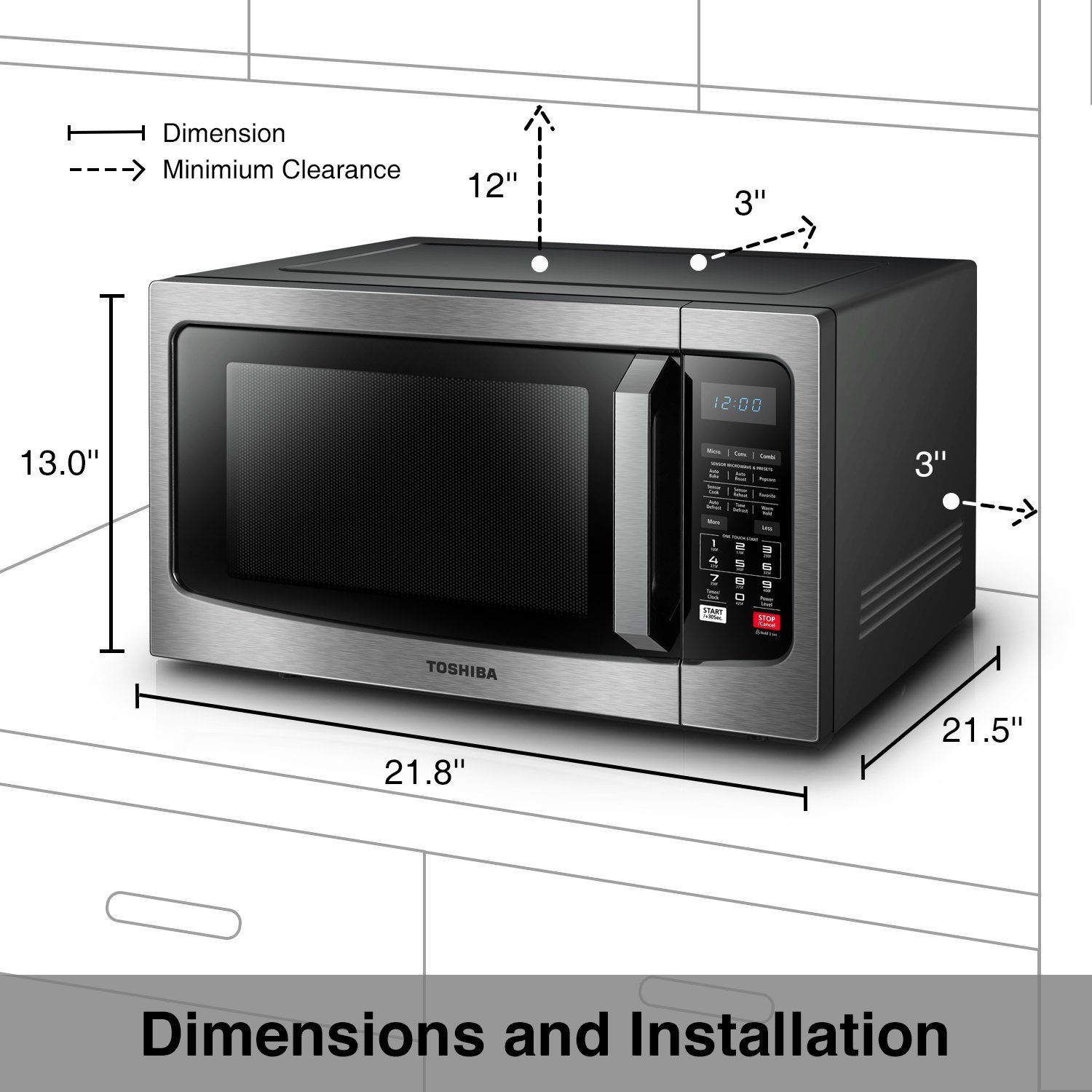 Toshiba Ec042a5css Microwave Oven With Convection Function Smart Sensor And Led Lighti Microwave Convection Oven Stainless Steel Microwave Stainless Steel Oven