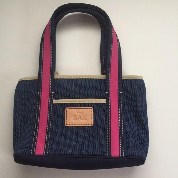 The Sak Bag Navy Blue Pink Purse Cute The Sak Bag Navy Blue Pink