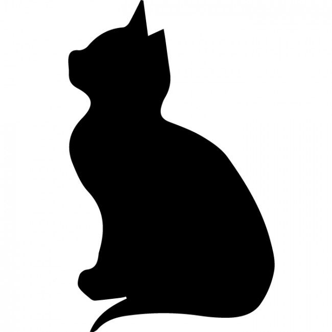 Pin by eric karen kirsch on wood cat silhouette wall - Dessin chat assis ...