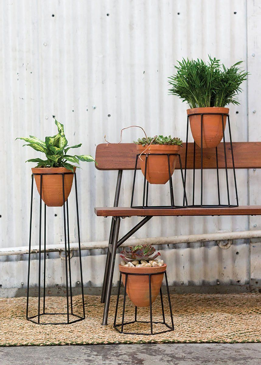 Terracotta Floor Plant Stand 24 75 In 2020 Plant Stands Outdoor Floor Plants Plant Stand