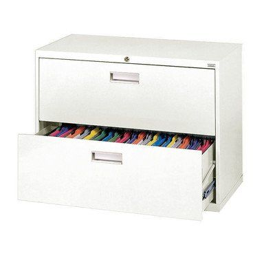 Sandusky Lee 600 Series 2 Drawer Lateral File Cabinet, Depth X Height X  Width, White