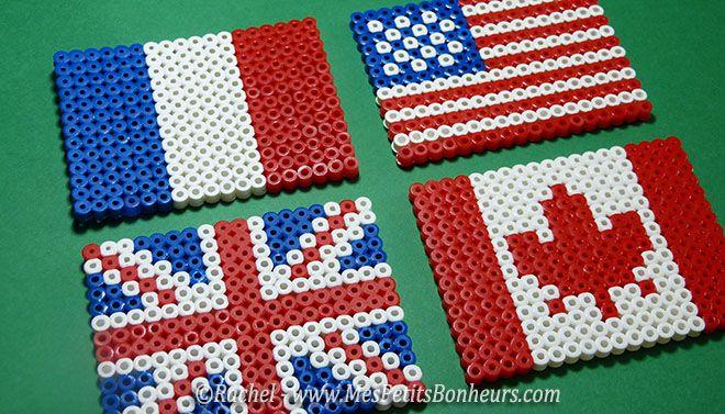 Modeles drapeaux perles a repasser perles pinterest repasser drapeau et perles - Modeles perles a repasser ...