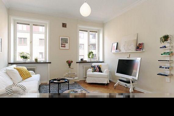 Apartamento Pequeño Con Práctico Diseño Living room Pinterest