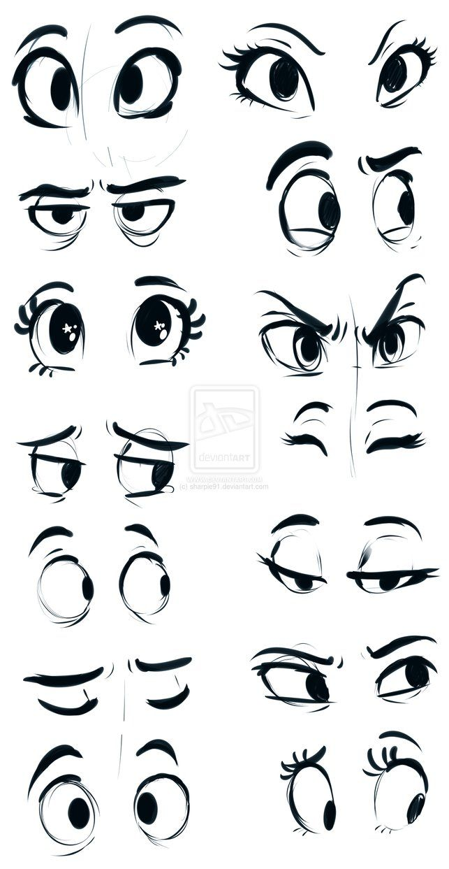 How To Draw Cartoon Eyes Looking Up