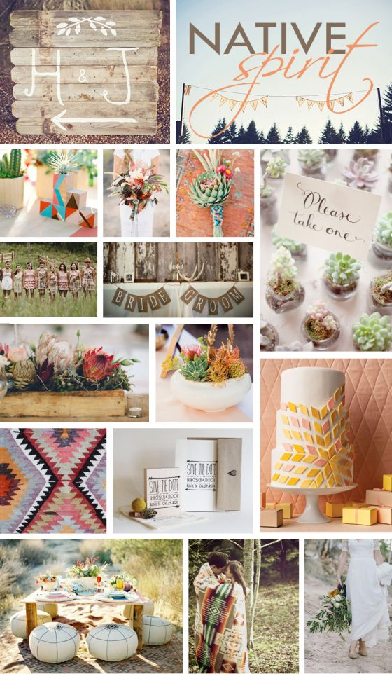 Native American Wedding Inspiration Vintage Trends By Brossie Belle