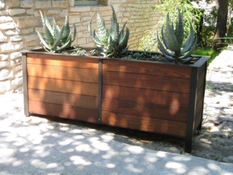 Steel planters austin outdoor studio planted in the yard steel planters austin outdoor studio workwithnaturefo