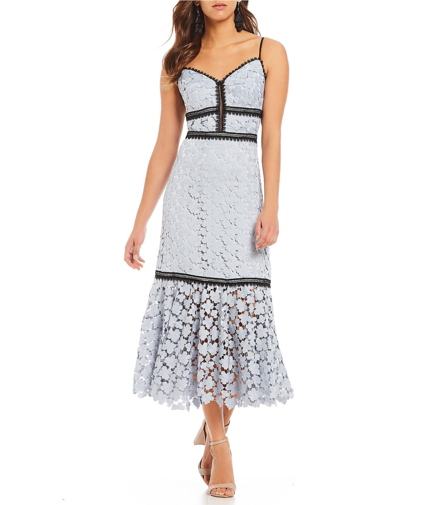 00a989330c92 Jill Jill Stuart Floral Lace Midi Dress #Dillards Summer Dresses, Formal  Dresses, Dillards
