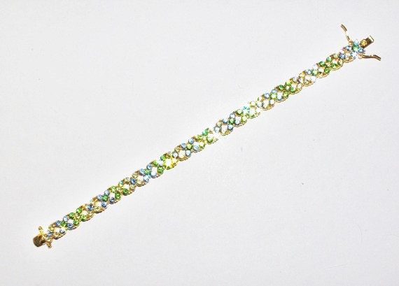 Gorgeous Joan Rivers Crystal Bracelet Blue by StetsonCollectibles