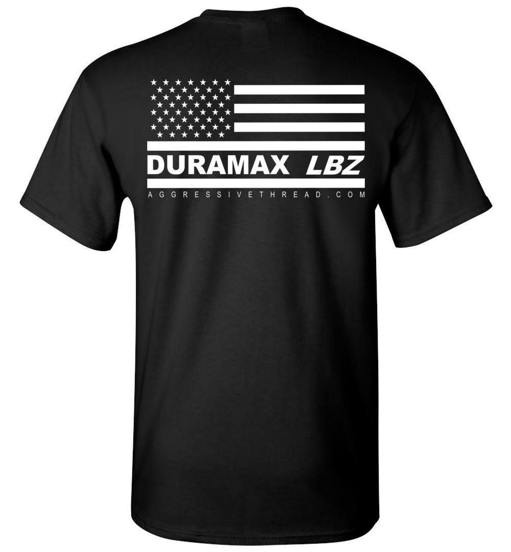 LBZ Duramax With American Flag on Back TShirt in Truck Yeah